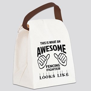 This is what an awesome Fencing F Canvas Lunch Bag