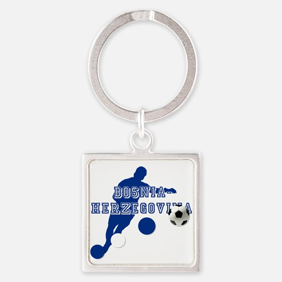 Bosnia Football Player Keychains