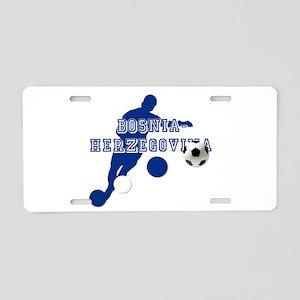 Bosnia Football Player Aluminum License Plate