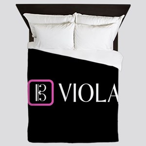 Viola & Alto Clef (Pink) Queen Duvet