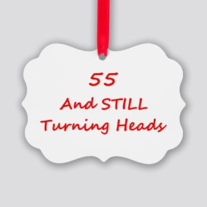55 Still Turning Heads 1C Red Ornament