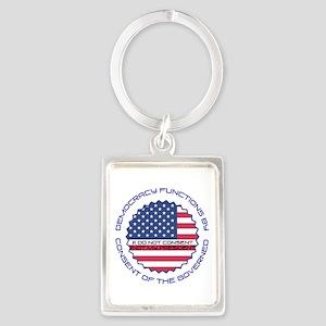 Not My President Keychains