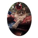 Princess under tree Oval Ornament
