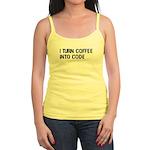 Coffee Into Code Funny Geek Jr. Spaghetti Tank