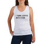 Coffee Into Code Funny Geek Women's Tank Top