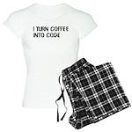 Coffee Into Code Funny Geek Women's Light Pajamas