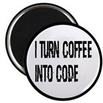 Coffee Into Code Funny Geek Magnet