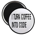 Coffee Into Code Funny Geek 2.25