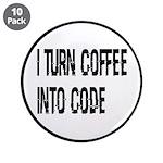 Coffee Into Code Funny Geek 3.5