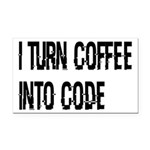 Coffee Into Code Funny Geek Rectangle Car Magnet