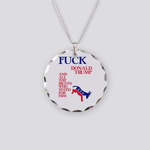 Fuck Donald Trump Necklace Circle Charm