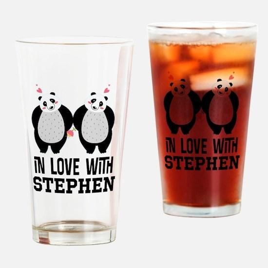 Personalized Couples Panda Bears Drinking Glass