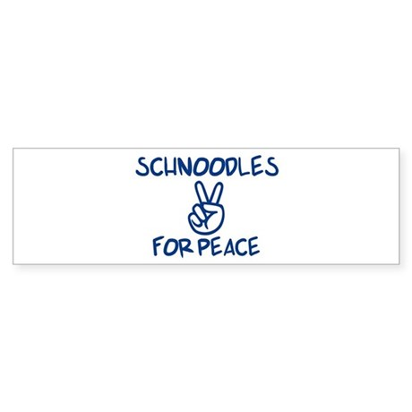 Schnoodles for Peace Bumper Sticker