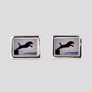 Chesapeake Bay Retriever Leaping In the Cufflinks