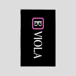 Viola & Alto Clef (Pink) Area Rug