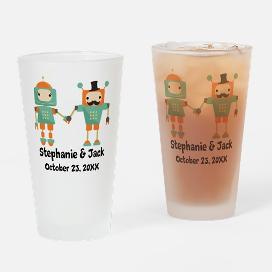 Personalized Couples Anniversary Robots Drinking G