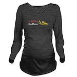 I Love Backhoes Long Sleeve Maternity T-Shirt