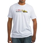I Love Backhoes Fitted T-Shirt