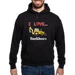 I Love Backhoes Hoodie (dark)