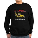 I Love Backhoes Sweatshirt (dark)