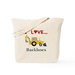 I Love Backhoes Tote Bag