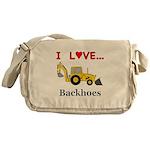 I Love Backhoes Messenger Bag