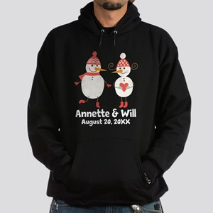 Snowman Couple Personalized His and Hers Sweatshir