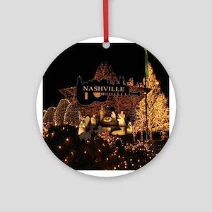 Nashville Nativity-SF-01 Round Ornament