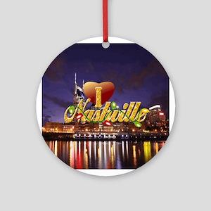 I Love Nashville-SF-01 Round Ornament