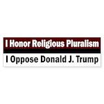 Religious Pluralism And Donald Bumper Sticker