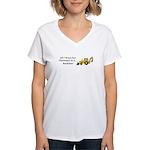 Christmas Backhoe Women's V-Neck T-Shirt