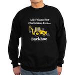 Christmas Backhoe Sweatshirt (dark)