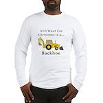 Christmas Backhoe Long Sleeve T-Shirt