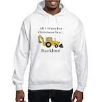 Christmas Backhoe Hooded Sweatshirt