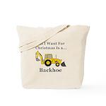 Christmas Backhoe Tote Bag