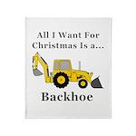 Christmas Backhoe Throw Blanket