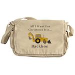 Christmas Backhoe Messenger Bag