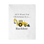 Christmas Backhoe Twin Duvet