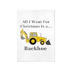 Christmas Backhoe 5'x7'Area Rug