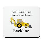 Christmas Backhoe Mousepad