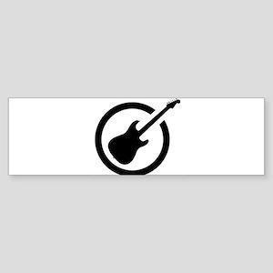 Ink Stamp Guitar Bumper Sticker
