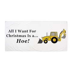 Christmas Hoe Beach Towel