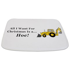 Christmas Hoe Bathmat