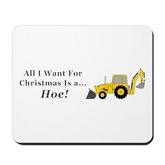 Christmas Hoe Mousepad