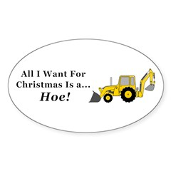 Christmas Hoe Sticker (Oval)