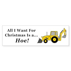 Christmas Hoe Sticker (Bumper)
