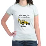 Christmas Hoe Jr. Ringer T-Shirt