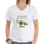 Christmas Hoe Women's V-Neck T-Shirt