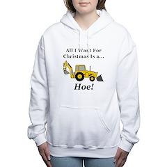 Christmas Hoe Women's Hooded Sweatshirt
