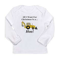 Christmas Hoe Long Sleeve Infant T-Shirt